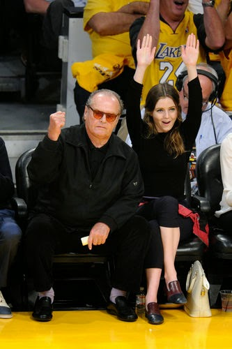 Jack Nicholson and his daughter Lorraine Nicholson