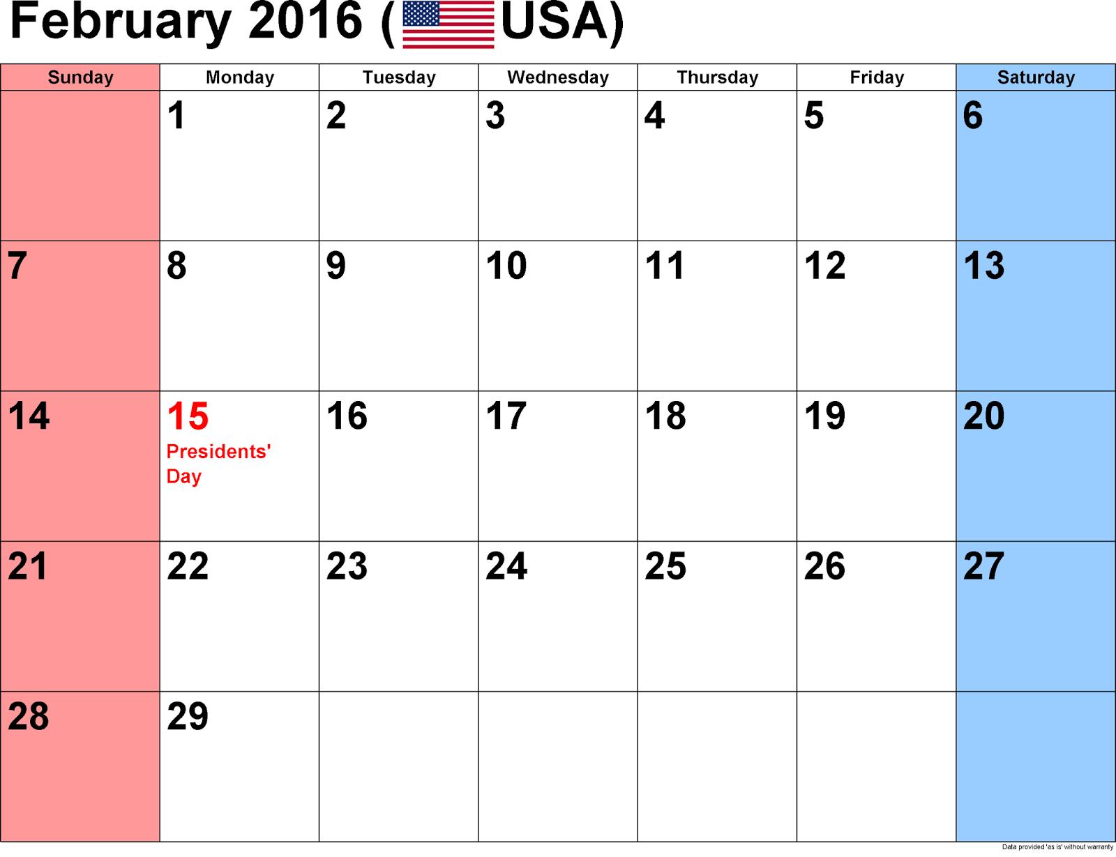 Printable Calendar Cute Word Excel PDF Template Download Monthly Cute ...