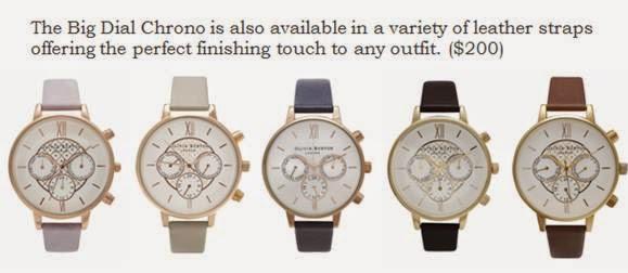 Olivia Burton Big Dial Chrono watches
