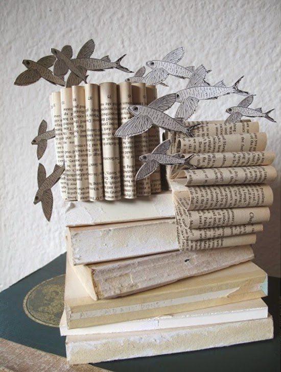 Safari Fusion blog | Africa folded | Recycling old books and creating paper folded works of art in South Africa