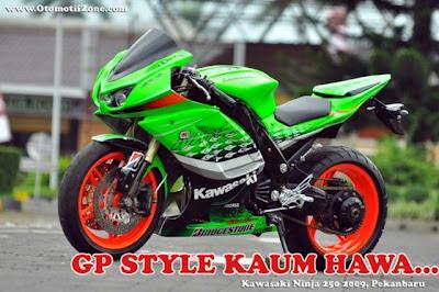 referensi modif ninja 250 hijau