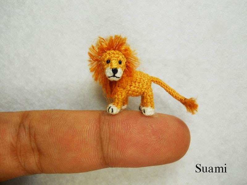 adorable tiny miniature crochet animals su ami-1
