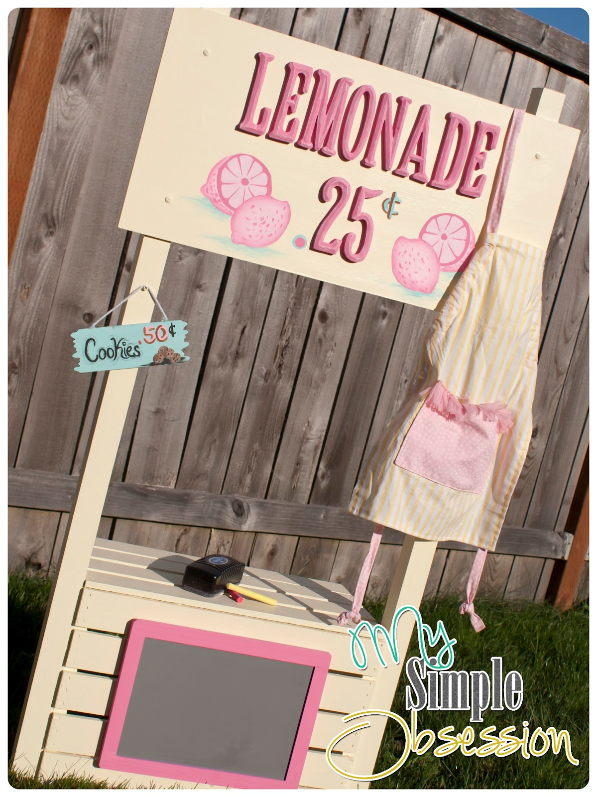 my simple obsession easy diy lemonade stand
