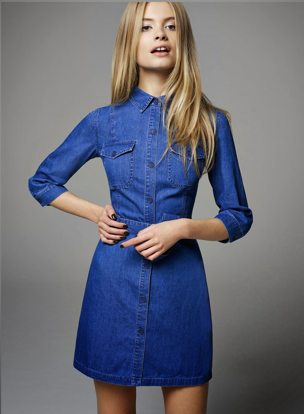 selfridge denim dress