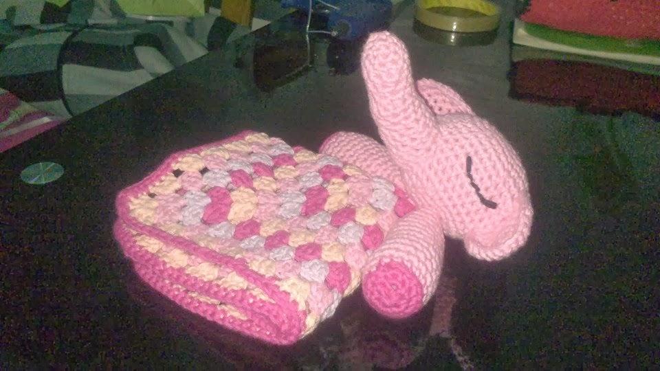 Crocheteando con imaginaci n manta de apego elefante for Manta punto gordo