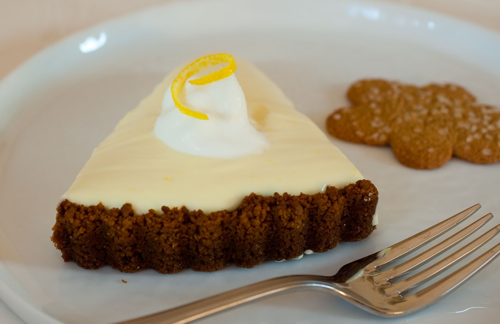 LemonMousse Tart in a Gingersnap Crust