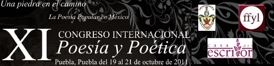 XI Congreso Internacional de Poesía y Poética