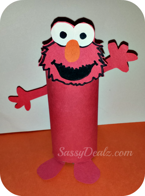 Cheap elmo cookie monster toilet paper roll crafts for for Elmo arts and crafts
