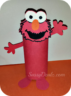 elmo toilet paper roll craft for kids