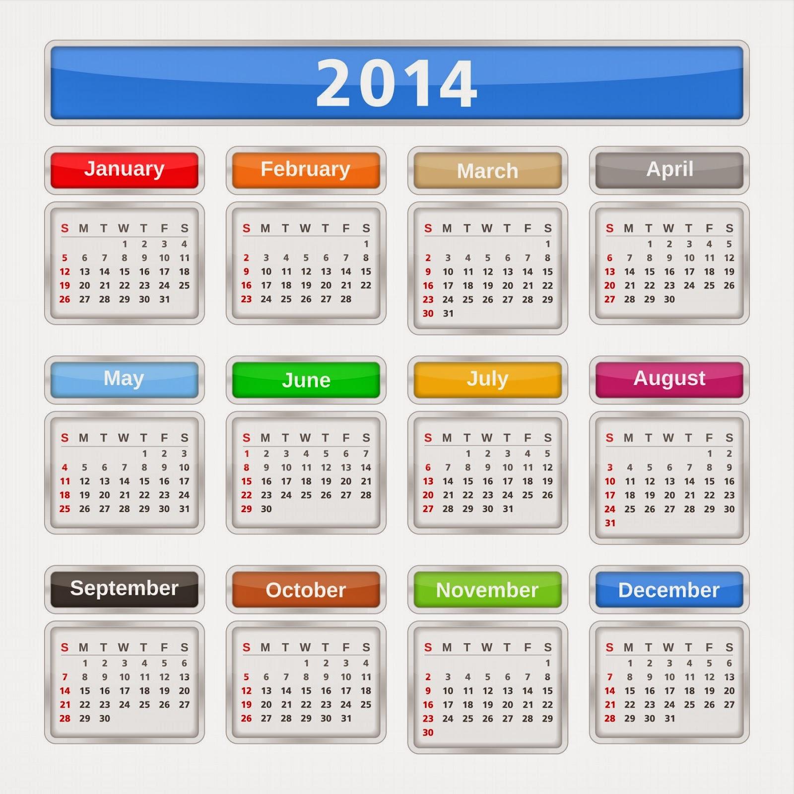 Free Desktop Calendar 2014