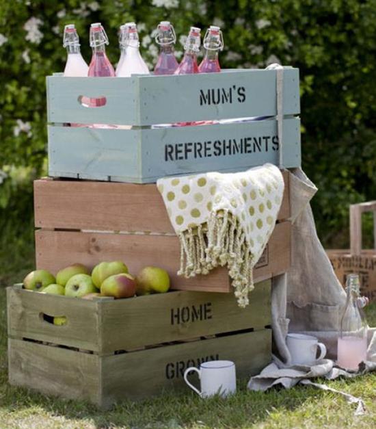 uno de los usos ms comunes de las cajas es en la decoracin de las diferentes partes de la boda por ejemplo en la recepcin o en el cocktail