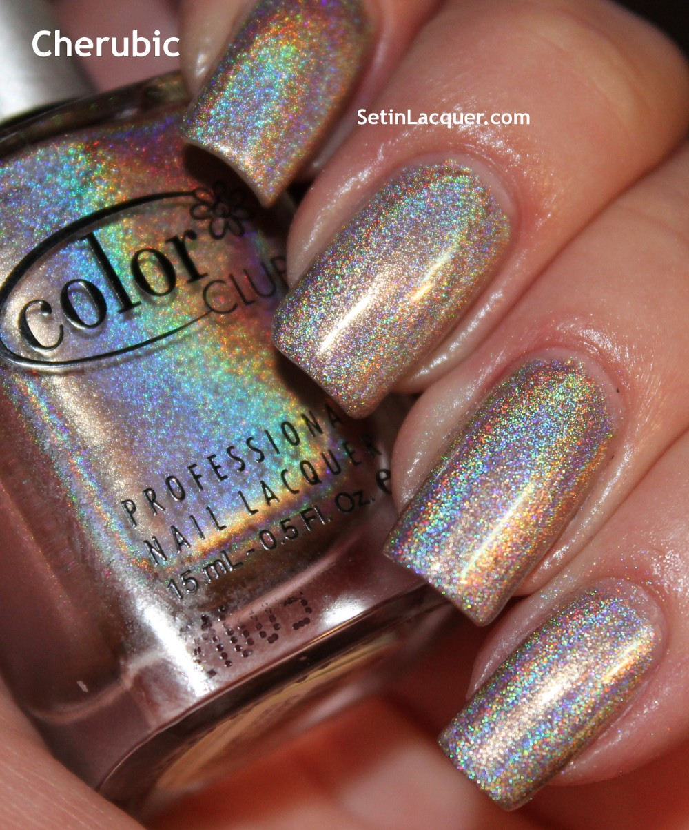 Color Club Holographic Nail Polish Swatches: 2012 Color Club ♥ Halo Hues Holographic Nail Polish