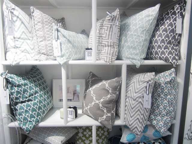 COCOCOZY luxury linen pillows at the New York International Gift Fair