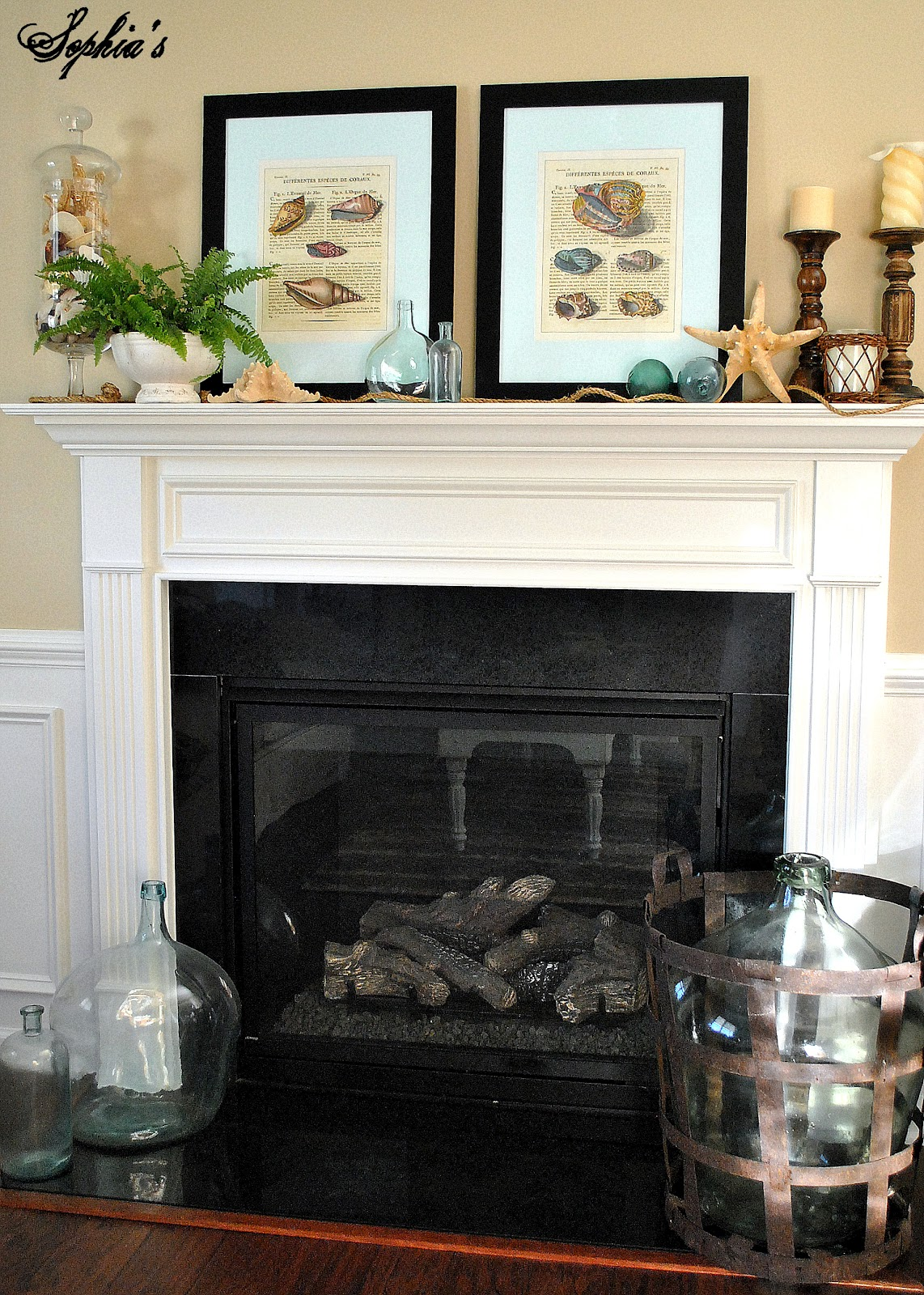 Easy Breezy Summer Mantel