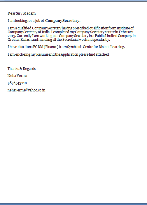 best cover letter exles
