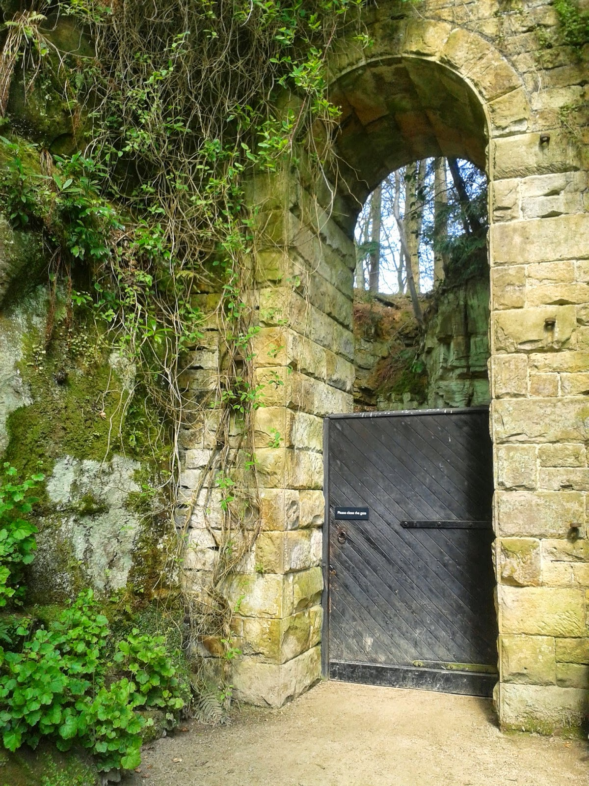 Belsay Hall, Castle and Gardens, Northumberland. Through the secret doorway.