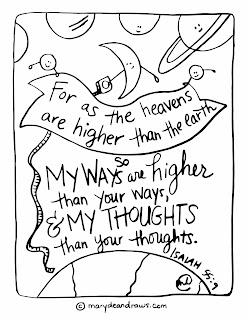 Isaiah 55:9 Printable Scripture Coloring Page Marydean Draws