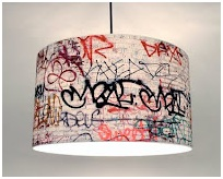 Juvenile graffiti bedrooms. Hip hop culture, graffiti decoration.
