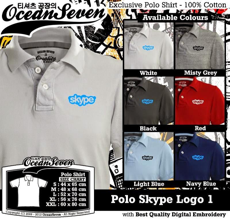Kaos Polo Skype Logo 1