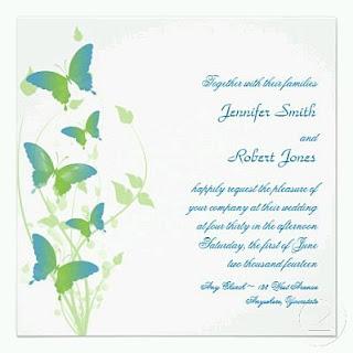 Tarjetas de Boda con Mariposas, parte 2