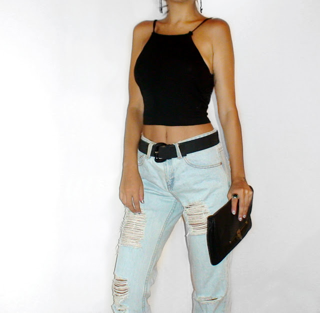 boyfriend jeans outfit ideas pinterest