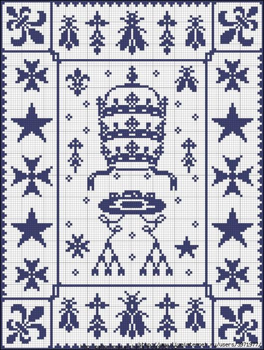 Zdarma křížkové vzory - Crown