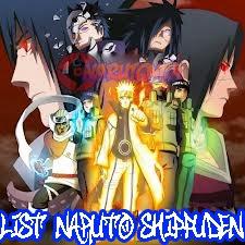 List Naruto Shippuden;