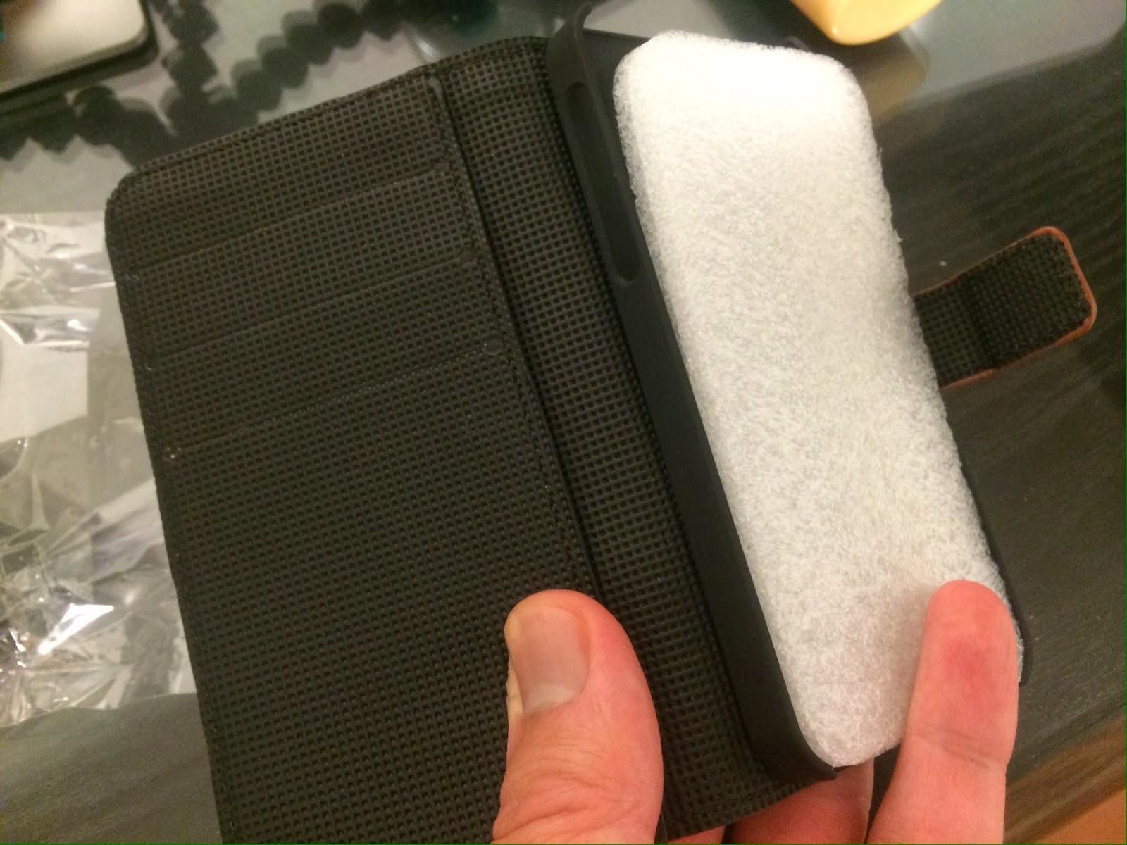 iPhone格安のカードホルダー付きレザーケース