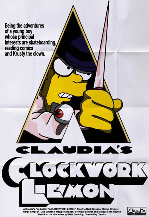 posters cinema simpsons - Clockwork Orange