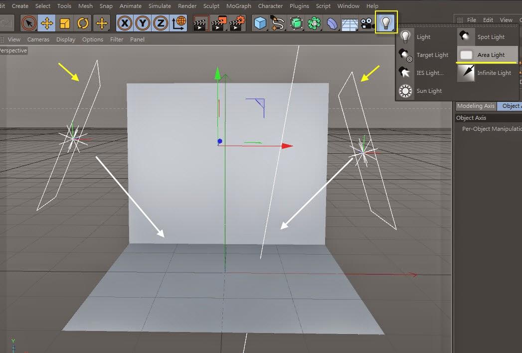 3d object on  2d image inC4D 04