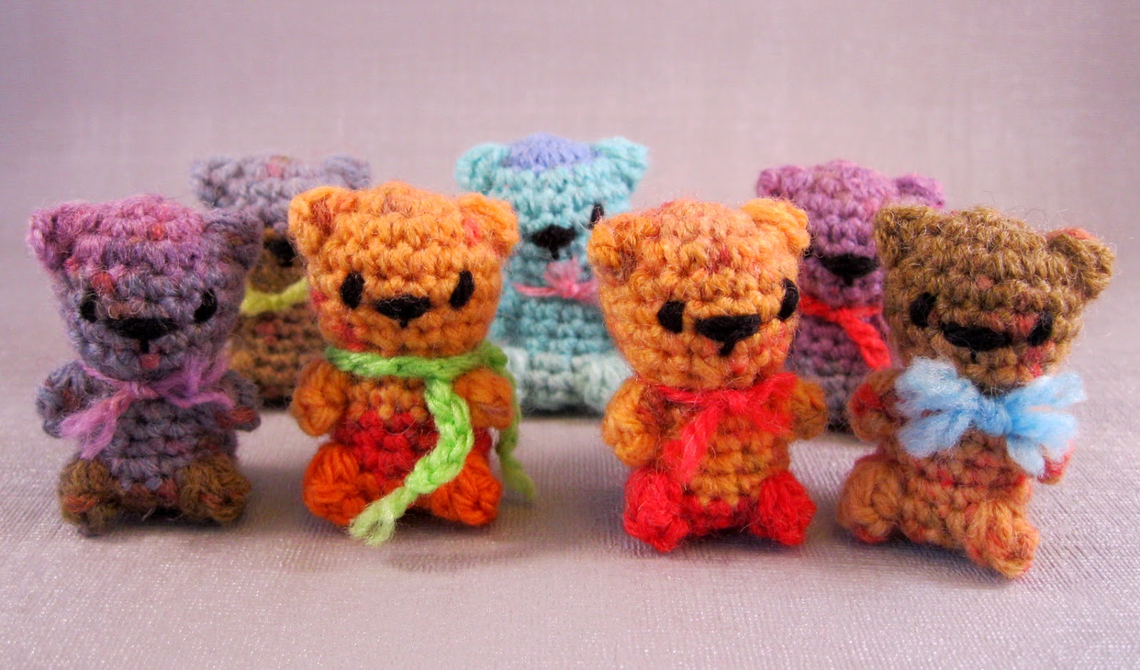 Amigurumi Teddy Bear Free Patterns : Lucyravenscar crochet creatures: mini teddies free amigurumi