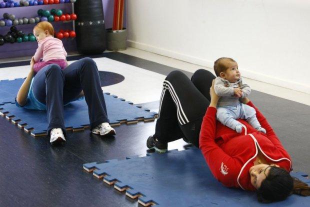 exercícios após o parto