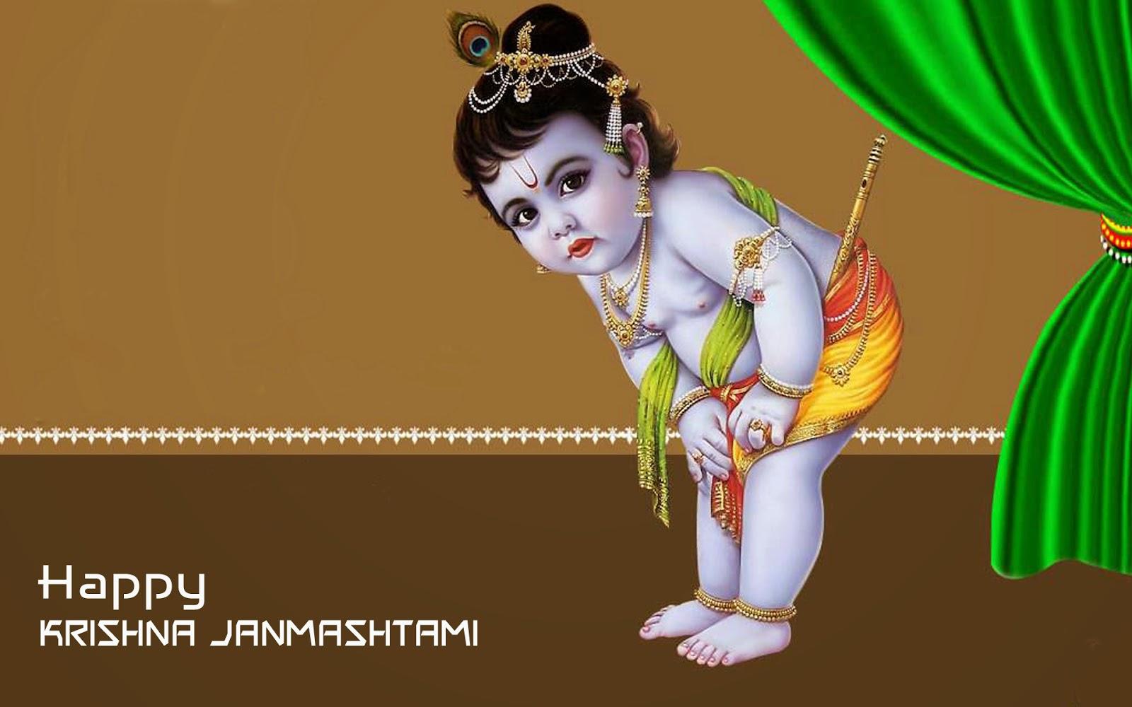 Happy krishna janmashtami hd wallpaper