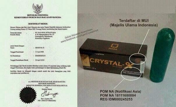 sertifikat BPOM Crystal X