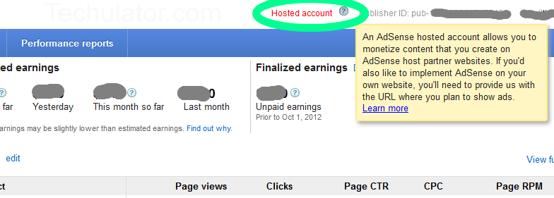 Payout adsense hosted tiap bulan