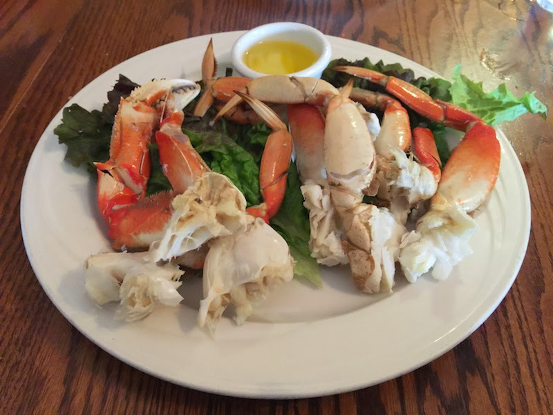 Cracked crab at Duarte's Tavern in Pescadero