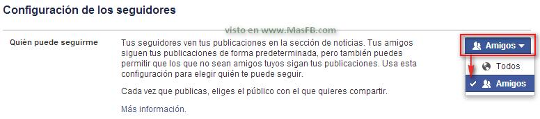 Cómo configurar seguidores - MasFB