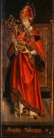 Ο Ναξιώτης Άγιος Aubain.  Ο πίνακας του άγνωστου ζωγράφου(περίπου 1500) βρίσκεται στην Πινακοθήκη της Ουάσιγκτον (National Gallery of Art).