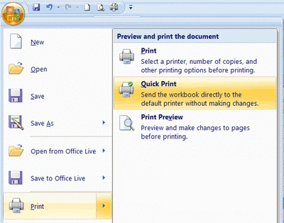 Excel Tutorials how to Print