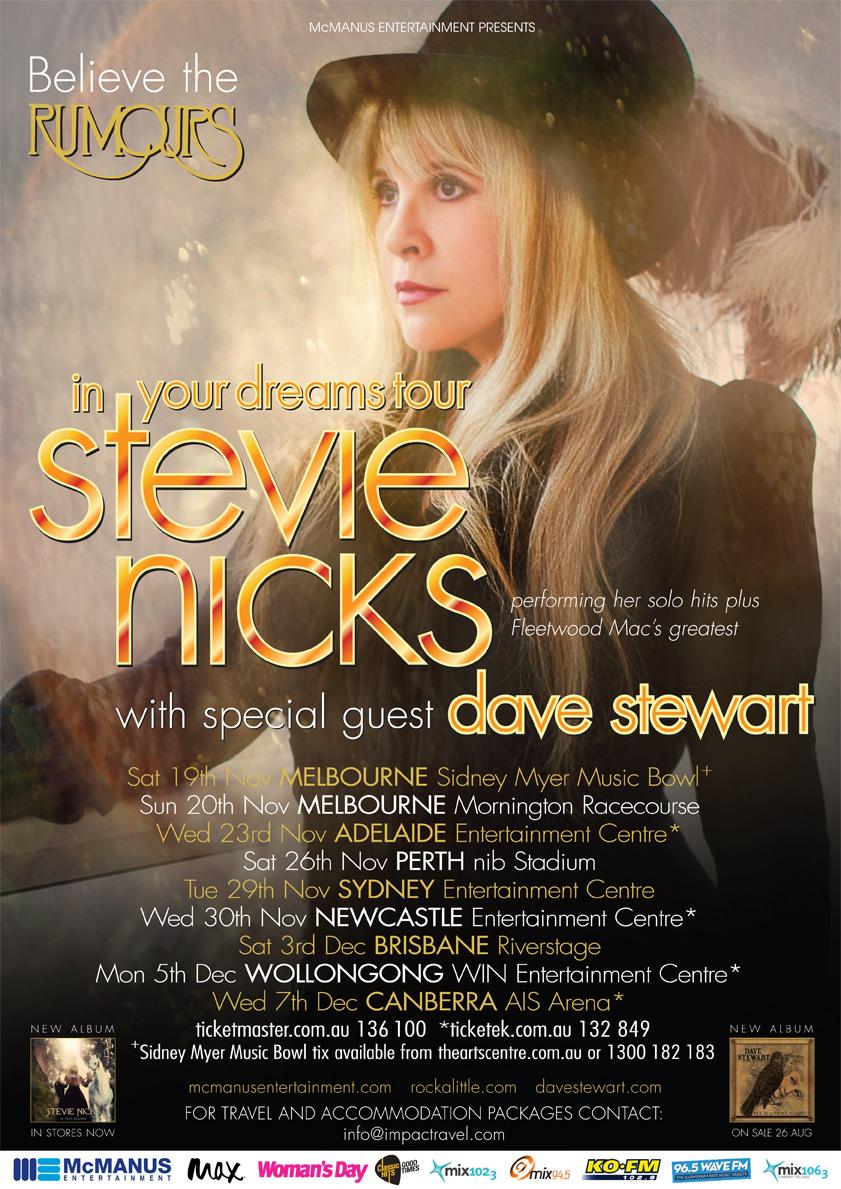 Stevie Nick  Tour Dates