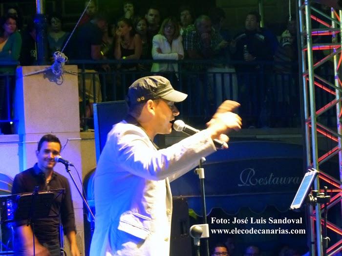 Tributo a Juan Luis Guerra en fiestas de Las Nieves, Agaete 2014