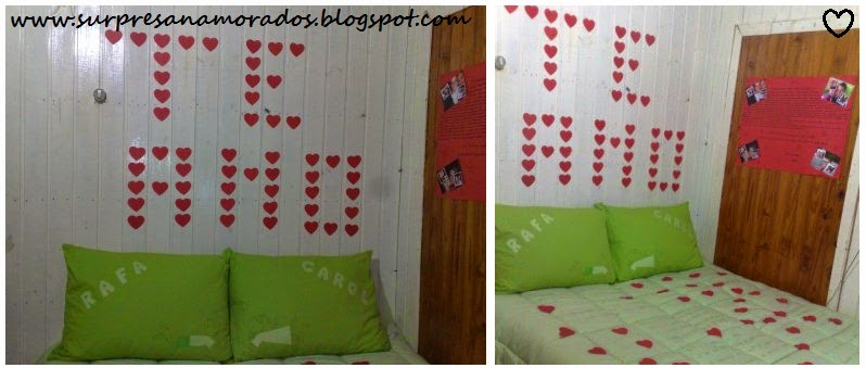 declaração de amor no quarto