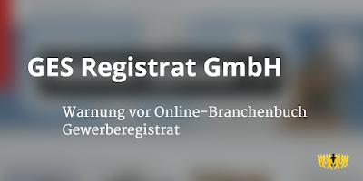 GES Registrat GmbH   Gewerberegistrat   Berlin   Branchenbuch