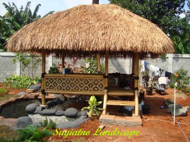 Model saung tukang saung gazebo gambar saung tukang - Pergola bambu ...