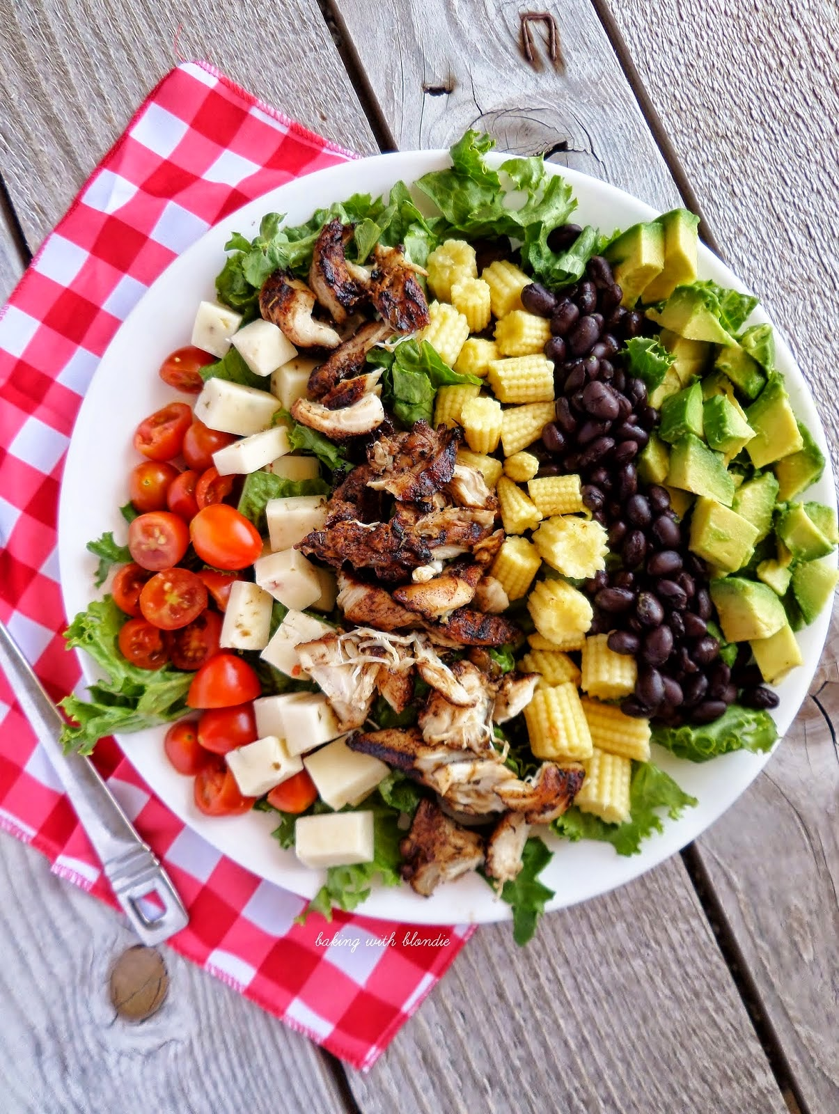 Jamaican Jerk Chicken Chopped Salad