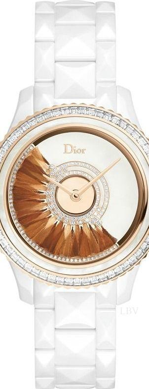 Desejo do dia - Relógio branco com diamantes da Dior