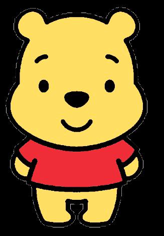 Desenho Pooh baby fofinho colorido com fundo transparente Turma do Pooh