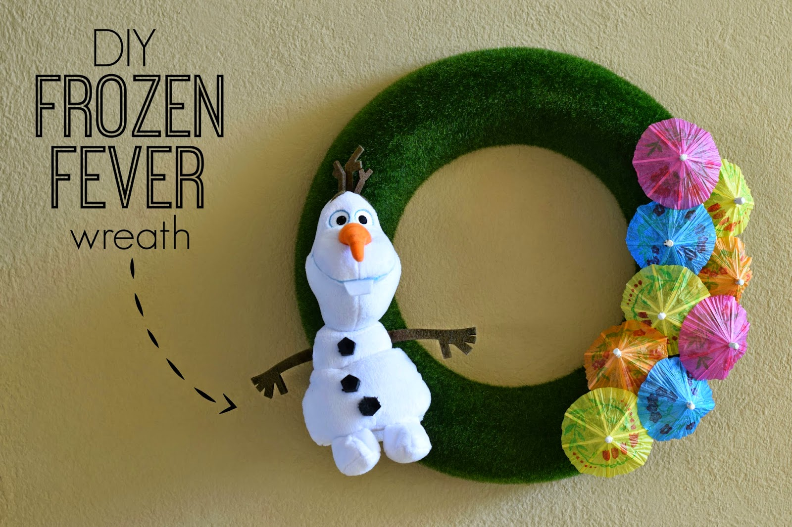 Disney Frozen fever, DIY frozen fever wreath , disney frozen DIY, frozen wreath , Olaf wreath, Disney Frozen fever DIY, #FrozenFever
