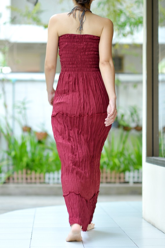 kate middleton fashion dress_04. Maxi Dress in Bloody Red