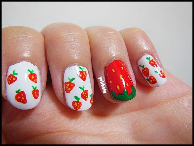 Manicura de fresas